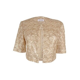 Calvin Klein Women's Sequined Lace Jacket - Gold