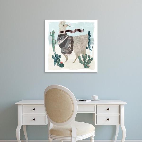 Easy Art Prints Victoria Borges's 'Holiday Llama I' Premium Canvas Art