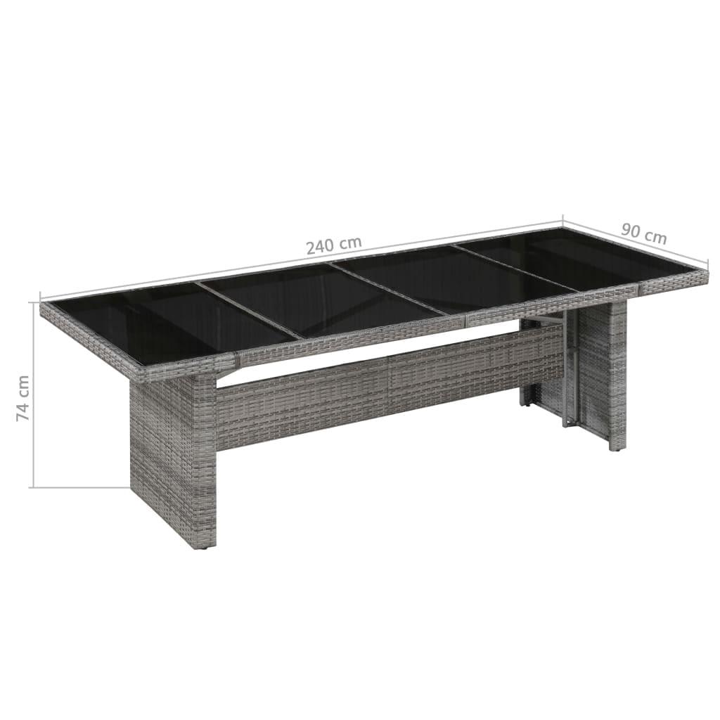 vidaXL Garden Table Plastic Rattan Look Furniture Multi Colours Multi Sizes