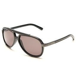 John Galliano Women's Pilot Style Sunglasses Grey/Black - Small