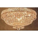 Swarovski Elements Crystal Trimmed French Empire Crystal Flush Basket Chandelier Lighting