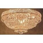 Swarovski Crystal Trimmed French Empire Crystal Flush Basket Chandelier Lighting