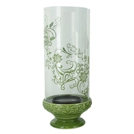 Reversible Ceramic/Glass Hurricane Candle Holder