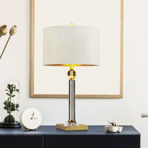 "Furniture of America Sork Contemporary Gold Metal 29.5"" Table Lamp"