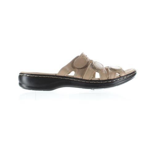 Clarks Womens Leisa Cacti Nude Leather Sandals Size 9.5