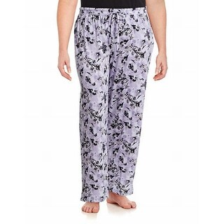 Lord & Taylor NEW Purple Womens Size XL Floral-Print Lounge Pants