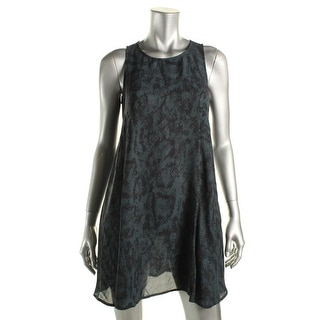 Aqua Womens Mini Dress Animal Print Sleeveless