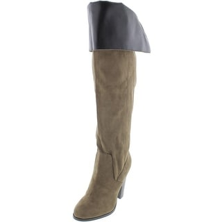 Qupid Womens Reborn-03 Thigh-High Round Toe Over-The-Knee Boots