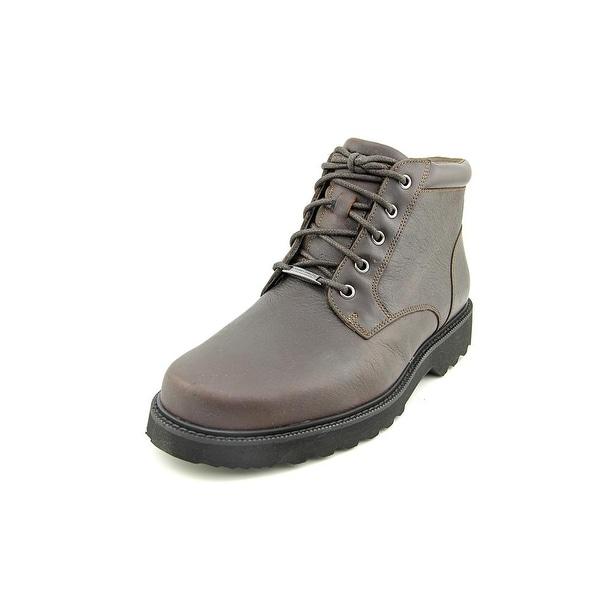 Rockport Northfield Plain Toe Boot Men Round Toe Leather Brown Work Boot