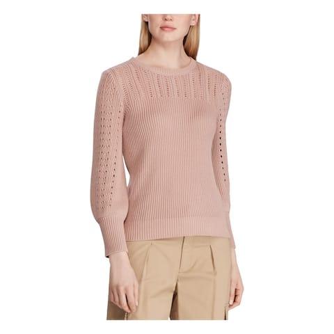 RALPH LAUREN Womens Pink Long Sleeve Crew Neck Sweater Size XL