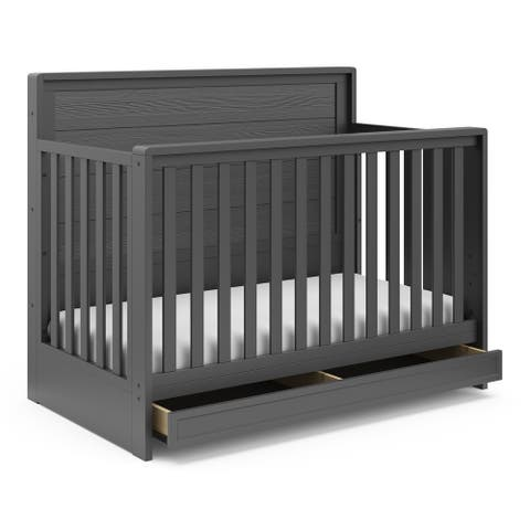 Storkcraft Luna 4-in-1 Convertible Crib with Drawer