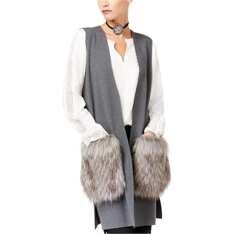 Kobi Womens Faux Fur Sweater Vest
