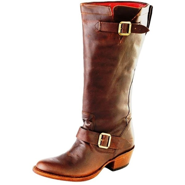 Macie Bean Western Boots Womens Middleton Buckle Goat Brown