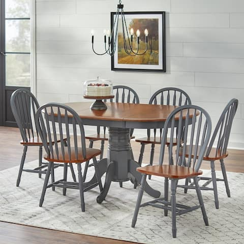 Simple Living Farmhouse 7-piece Dining Set with Leaf