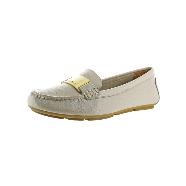 Calvin Klein Womens Lisette Loafers Leather Embossed