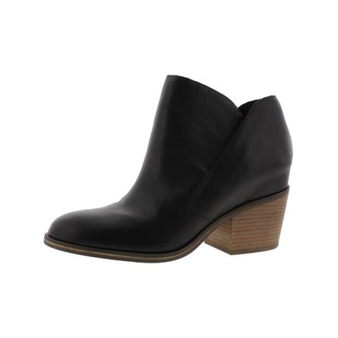 Jessica Simpson Womens Tandra Ankle Boots Stacked Heel