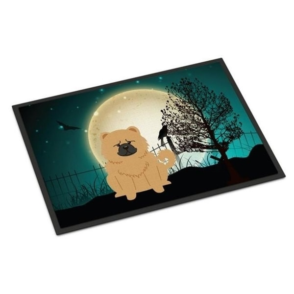 Carolines Treasures BB2334MAT Halloween Scary Chow Chow Cream Indoor or Outdoor Mat 18 x 0.25 x 27 in.