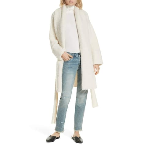 Free People Ivory White Womens Size Small S Open-Front Cardigan