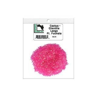 Ccl131 Hareline Cactus Chenille Lg Fluor Fuchsia