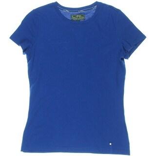 L-RL Lauren Active Womens Knit Crew Neck T-Shirt - M