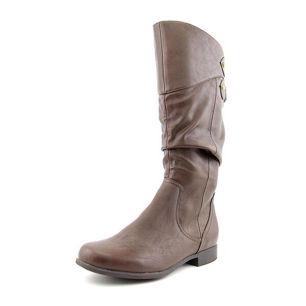 Hush Puppies Gianna Motive Women Round Toe Synthetic Brown Mid Calf Boot