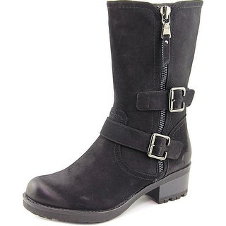 White Mountain Birch   Round Toe Synthetic  Mid Calf Boot