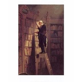 ''The Bookworm'' by Carl Spitzweg Education Art Print (20 x 16 in.)