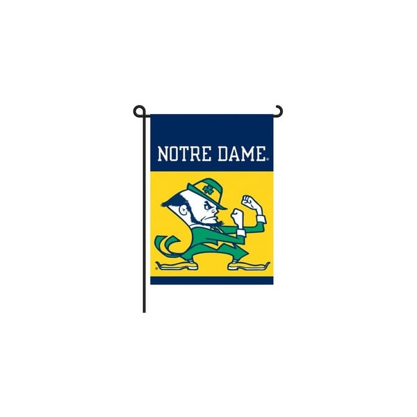 Bsi Products Inc Notre Dame 2 Sided Garden Flag Garden Flag
