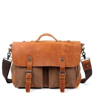 Link to TSD Brand Hudson Canvas Messenger Bag Similar Items in Messenger Bags