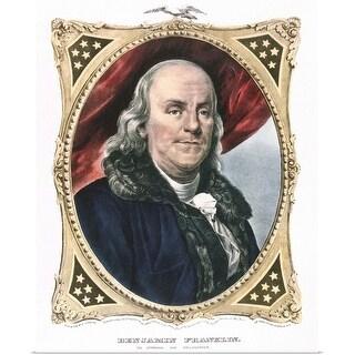 """""""Portrait of Benjamin Franklin"""" Poster Print"""
