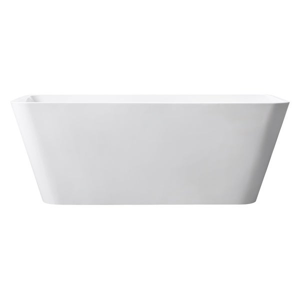 """Avanity ABT1530 Piron 63"""" Acrylic Soaking Bathtub for Free Standing Installation with Center Drain - Glossy White"""