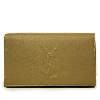 Saint Laurent Women's YSL Belle de Jour Beige Leather Clutch Bag 361120