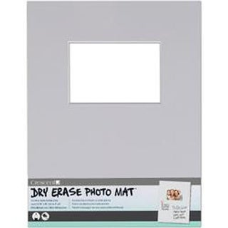 "Light Gray - Dry-Erase 11""X14"" Photo Mat Holds 4""X6"" Photo"