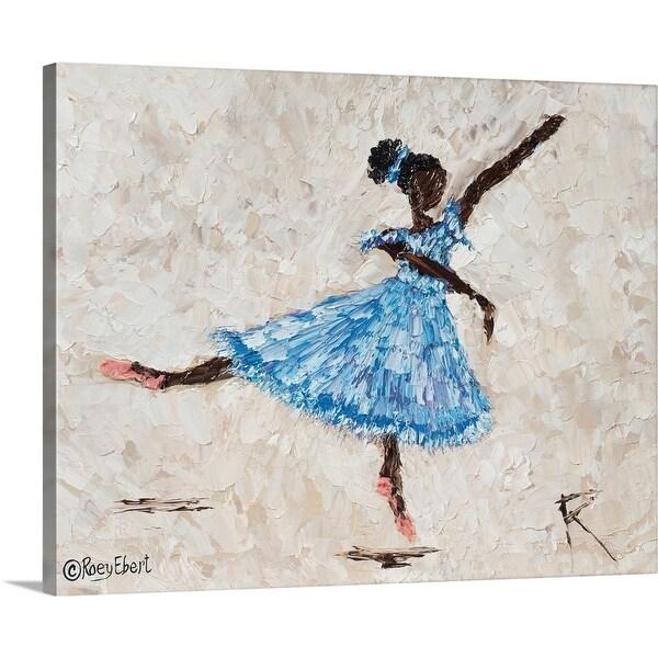 """Dancer in Blue"" Canvas Wall Art"