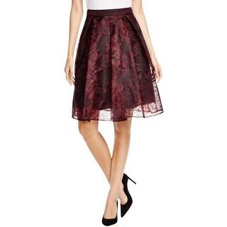 Aqua Womens A-Line Skirt Lace Pleated