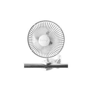 "Air King 9145  6"" 190 CFM 2-Speed Commercial Grade Spring Loaded Clip-On Office Fan with Adjustable Head from the Hassock &"