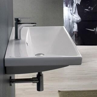 """Nameeks 032000-U  Elite 23-5/8"""" Ceramic Wall Mounted/Drop in Bathroom Sink with 1"""