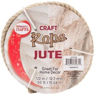 """Jute Craft Rope .5""""X50'-Natural"""