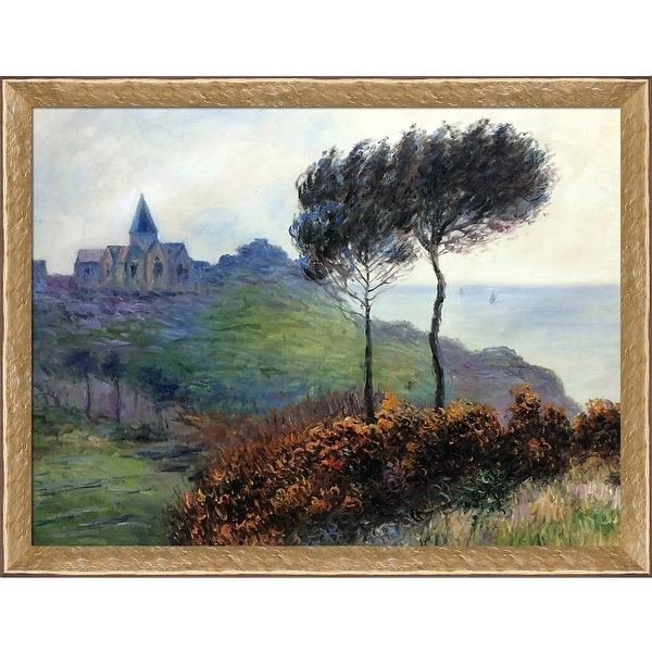 Claude Monet 'The Church at Varengeville, Grey Weather' Hand Painted Oil Reproduction