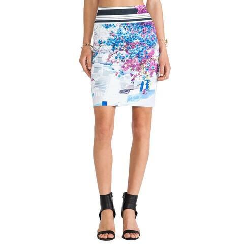Clover Canyon Women's Santorini Stripe Neoprene Skirt (Small)