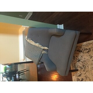 most helpful - Light Blue Accent Chair
