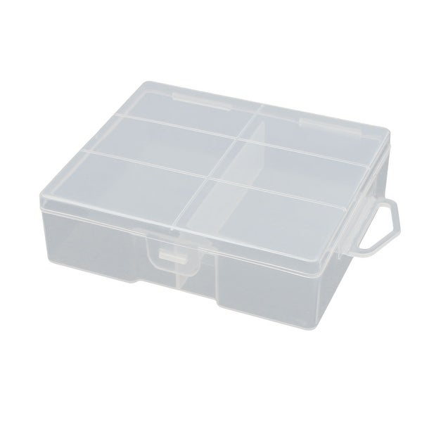 105mmx90mm32mm Transparent Plastic Battery Case Organizer for AA Batteries