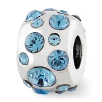 Sterling Silver Reflections March Swarovski Elements Bead (4mm Diameter Hole)