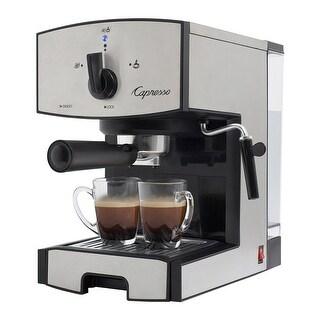 Capresso 117.05 EC50 Stainless Steel Pump Espresso & Cappuccino Maker, 42 Oz