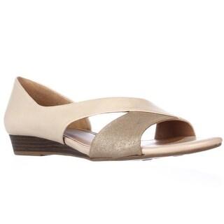 naturalizer Jazzy D'Orsay Peep Toe Flats - Taupe/Mocha