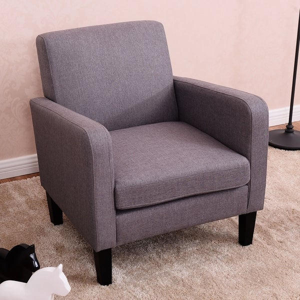 Shop Costway Leisure Arm Chair Accent Single Sofa Fabric Upholstered Living Room Furniture