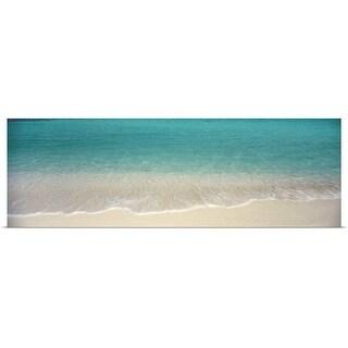 Poster Print entitled Waves Magens Bay St Thomas US Virgin Islands - multi-color