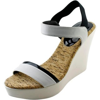 Charles By Charles David Petra Women Open Toe Synthetic White Wedge Sandal