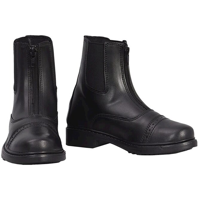 Rhinegold Childrens Classic Leather Jodhpur BOOTS Size J12 Black for sale online
