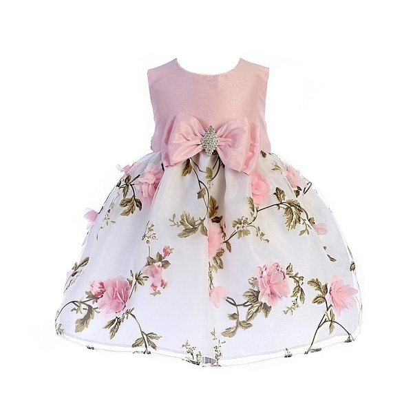 6b6c6a3f6a5d Shop Crayon Kids Baby Girls Pink Floral Print Easter Flower Girl Dress - Free  Shipping On Orders Over $45 - Overstock - 21387108
